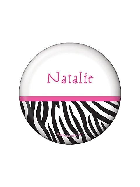 Zebra Party Personalized Button