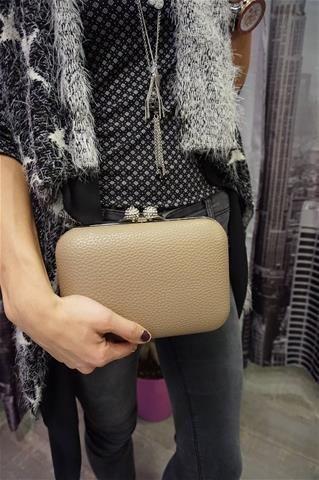 La Bella Donna - Γυναικειο Τσαντακι Clutch Bag Πουρο