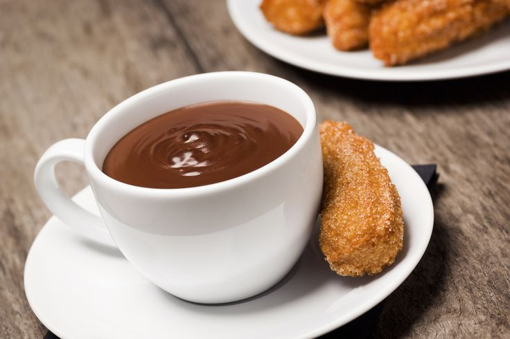 Mmmmm, Mexican hot chocolate...paired with cinnamon churros, it's the ...