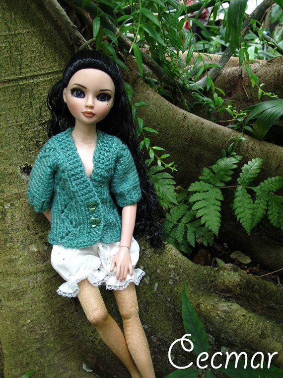 14. Knitting pattern in english : cardigan Ellowyne Wilde
