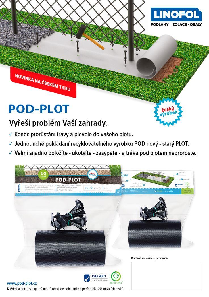 • zabraňuje prerastaniu trávy a buriny stredom plotu