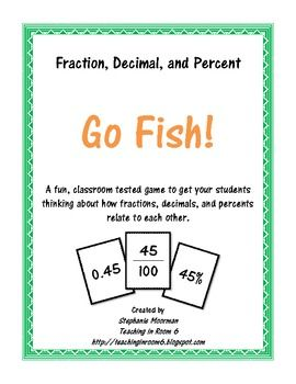 This classroom tested game helps your students practice converting fractions to decimals to percents, find equivalents between the three, and have ...