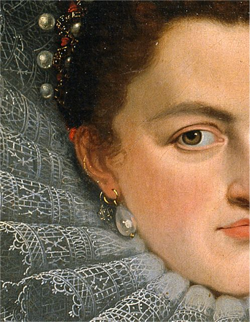 Multiple ear piercings. Infanta Isabel Clara Eugenia, Juan Pantoja de la Cruz, 1598-99, Museo del Prado, Madrid