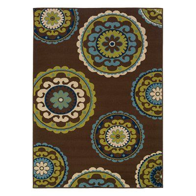Oriental Weavers 859D6 Caspian Area Rug, Brown