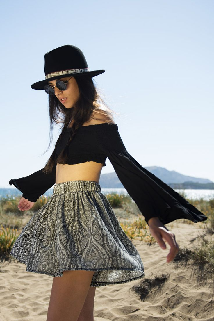 Printed Loose Shorts - ΡΟΥΧΑ -> Φούστες & Shorts   Made of Grace