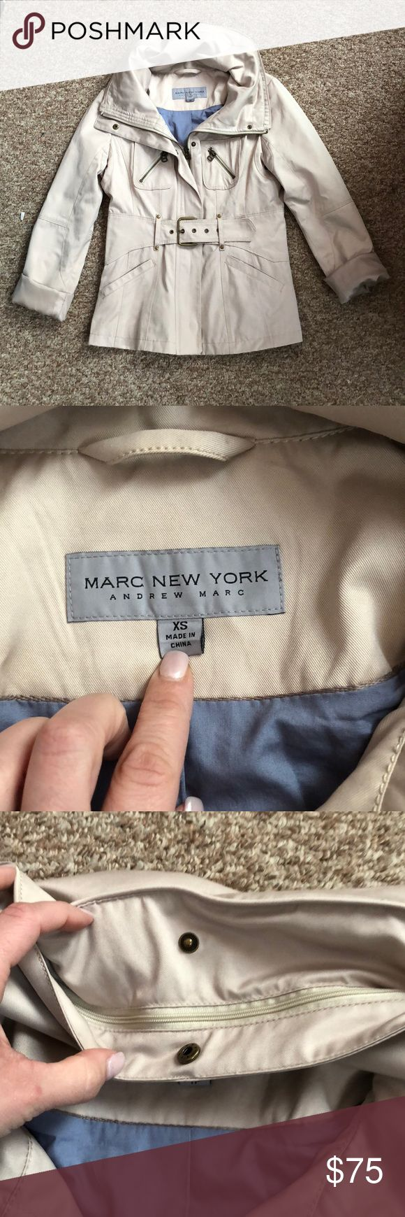 MARC NEW YORK ANDREW MARC Coat Size XS MARC NEW YORK ANDREW MARC Coat...Size XS...Jacket is in Great Condition... The Coat has a Hide Away Hood and the Sleeves can be Rolled up! Andrew Marc Jackets & Coats Trench Coats