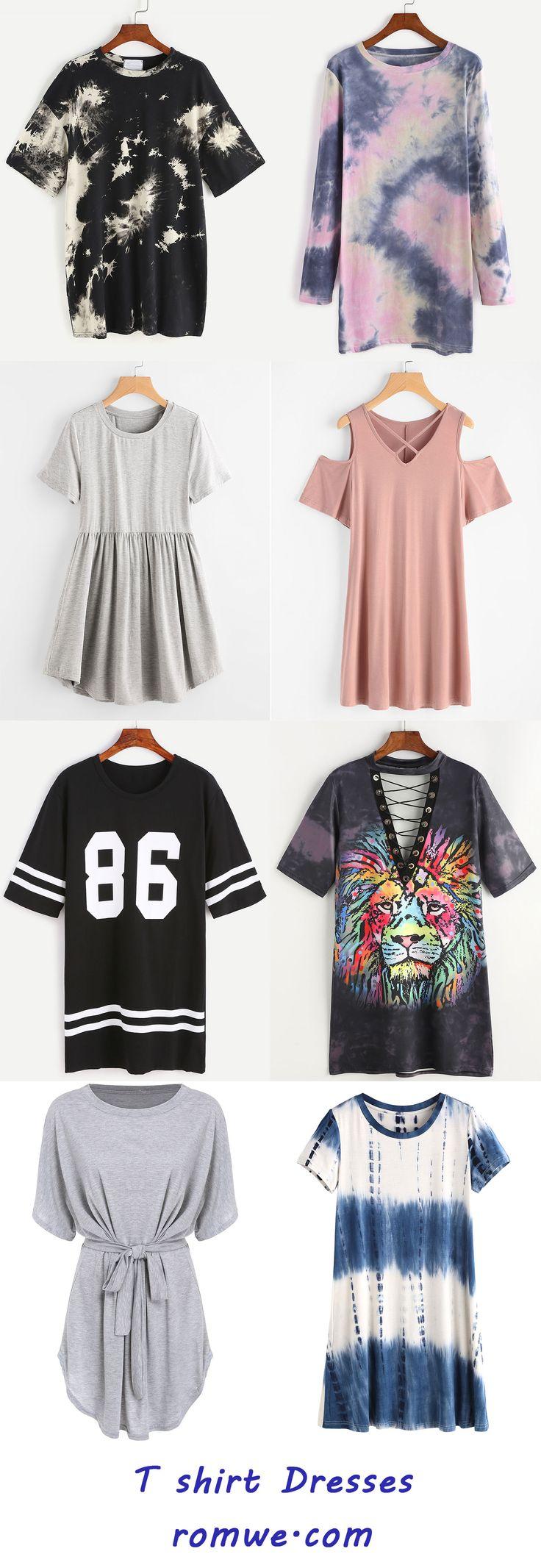 T shirt Dresses Collection 2017 - romwe.com