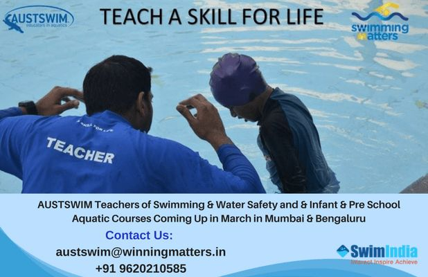 Teach a Skill for Life! Become an AUSTSWIM Accredited Swim Teacher  Know More: https://goo.gl/JGkogd  #swimIndia #austswim