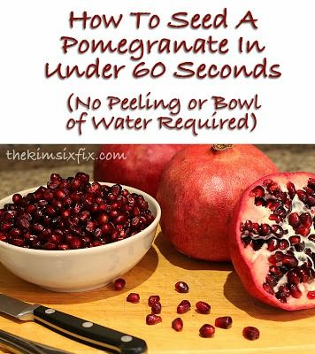 17 best images about fruit hacks on pinterest cut a pineapple mandarin oranges and veggies - Deseed pomegranate less one minute video ...