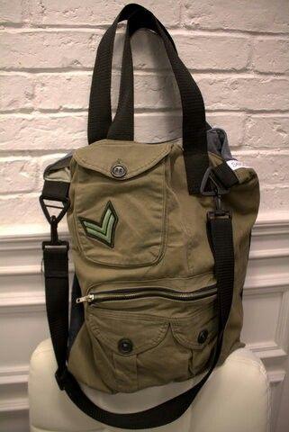 Upcycling bag MILITARY