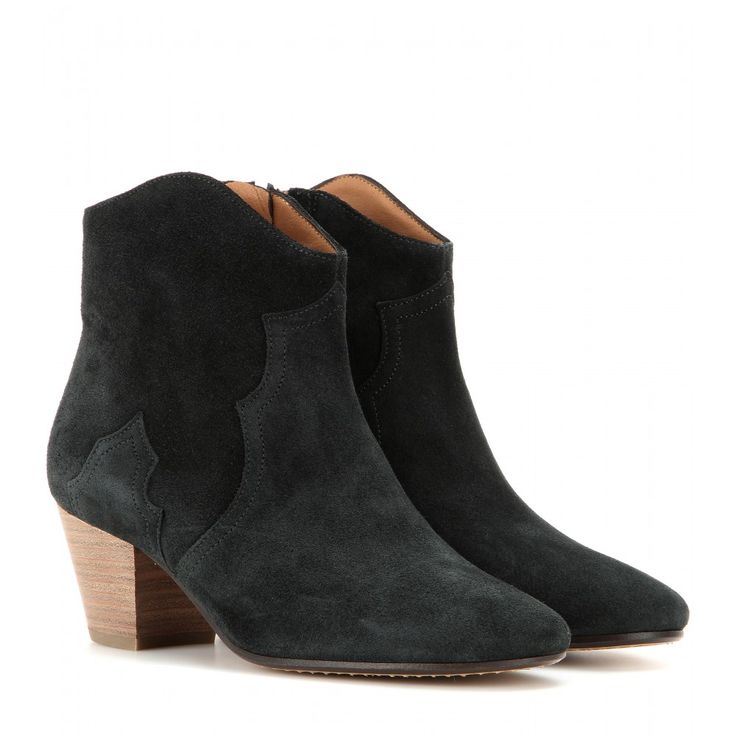 Isabel Marant - Étoile Dicker suede ankle boots - mytheresa.com