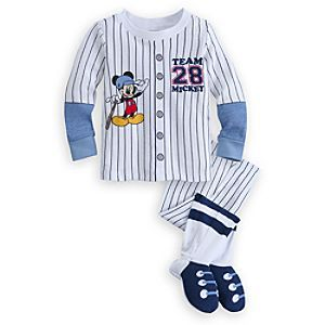 Disney Mickey Mouse PJ PALS for Baby | Disney StoreMickey Mouse PJ PALS for Baby - Baby will score a sleeper game in our footed Mickey Mouse PJ PALS. Mickey offers 100% cotton comfort in these snuggly long sleeve pajamas with warm feet that look like a pro baseball uniform.