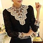 Women's Valuable Gracegul Stitchwork Lotus Sleeve Loose Shirt 2017 - $9.99