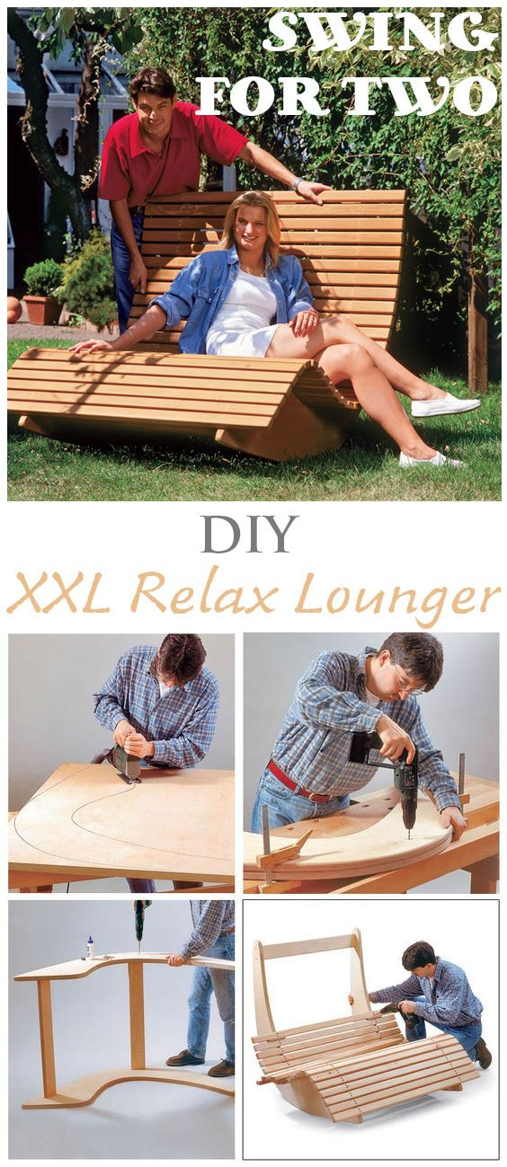 Who doesn't need a relax lounger in the garden? Enjoy your time in the sun while rocking in the swing. It is big enough for two so you can spend some time with your partner in the wooden daybed. Our step by step diy tutorial shows you how to build this awesome sun lounger.