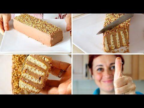 MATTONCINO DOLCE DI BENEDETTA Ricetta Facile Senza Cottura - Nutella Brick Cake Easy Recipe - YouTube