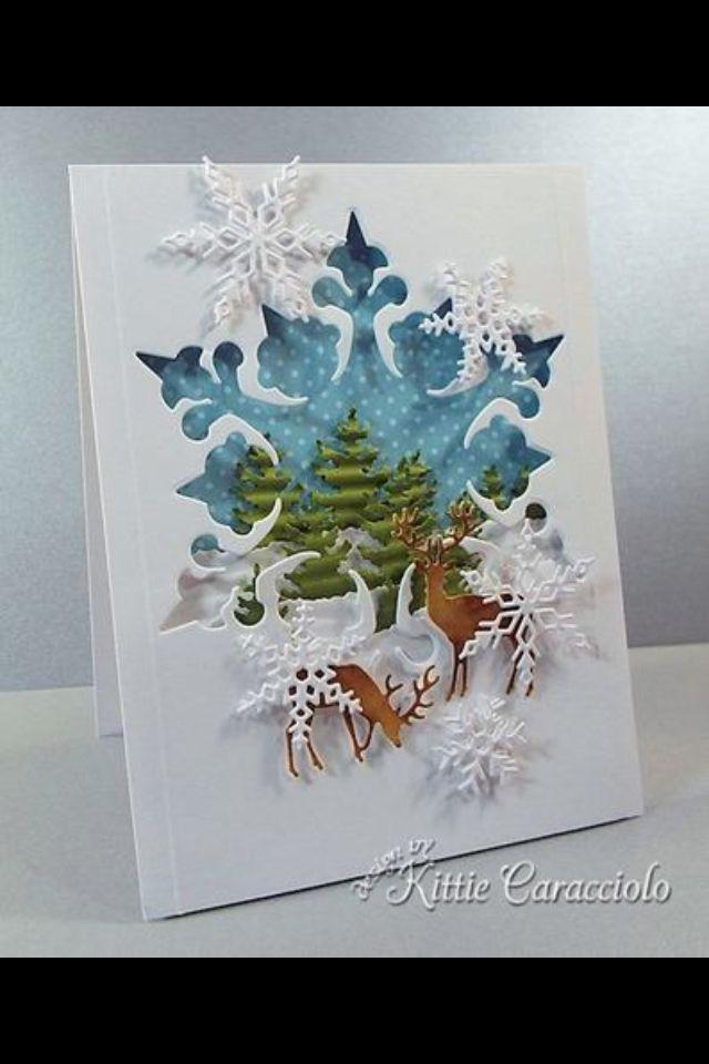 Snowflake Aperture card by Kittie Caracciola