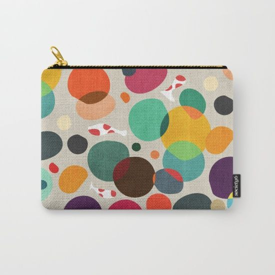 """Love this """"Lotus in Koi Pond"""" zip case by artist Picomodi. Available in 3 sizes, and each purchase supports the artist. This design is also available on other products including greeting cards, t-shirts, blankets, and tote bags."""