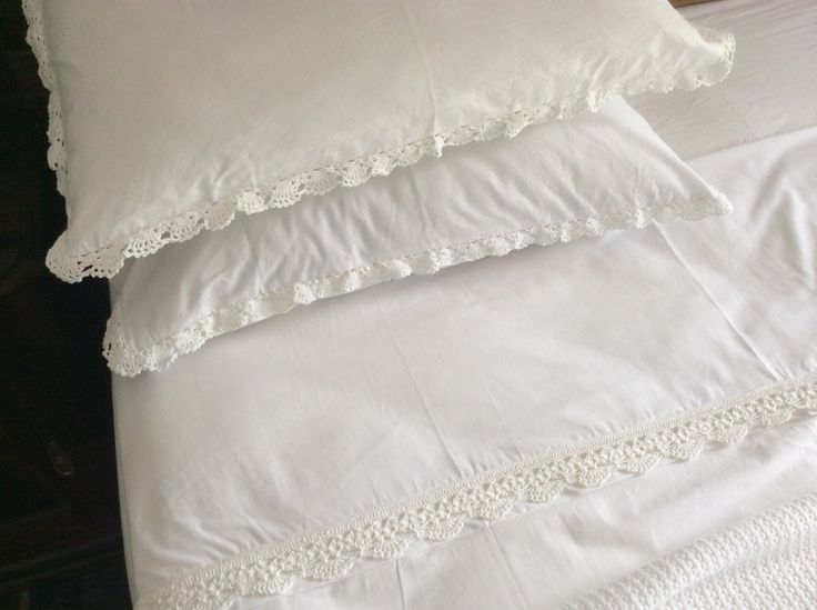 Linen and crochet by South Cape Crafts