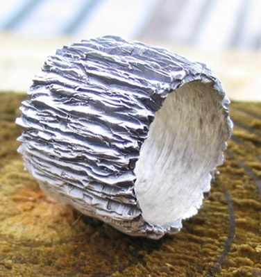 cast bracelet to look like bark