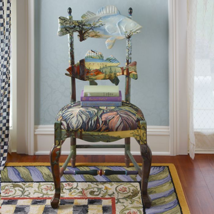 101 best mackenzie childs flowers color furniture images for Mackenzie childs fish rug