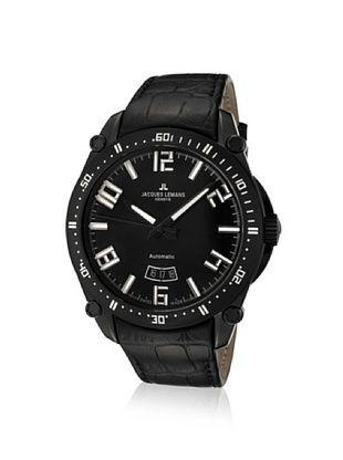 Jacques Lemans Men's GU333C Geneve Black Leather Watch