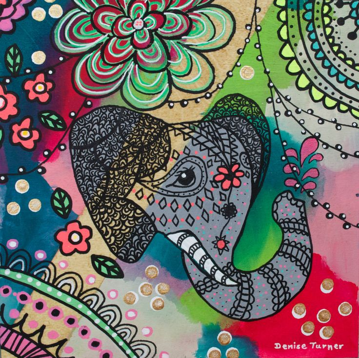 BOHEMIAN ELEPHANT #4 Print by PositivelyArt on Etsy.The elephant's characteristics of reliability, memory, strength and honour are captured in the various poses. Elephants teach us  to be gentle, committed and be good communicators in our relationships. A vibrant tribute to any elephant lover! The print is reproduced on smooth, matte, fine archival paper allowing for an impressive pictorial depth of the original. www.positivelyart.ca