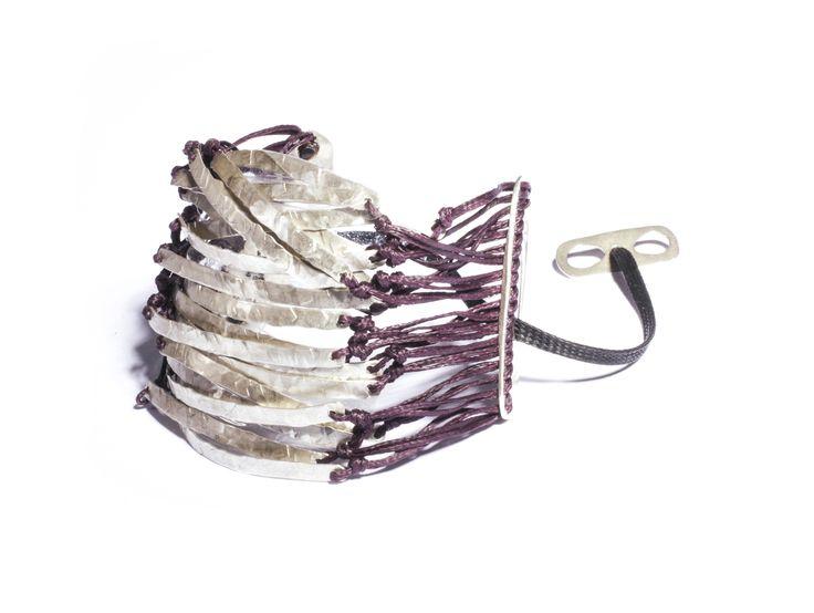 40 cords bracelet in silver www.apriati.com