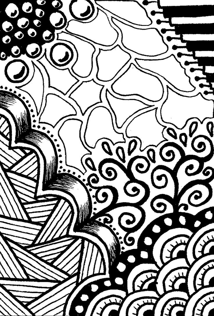Zen doodle colour - Creative Crafting How To Zen Doodle