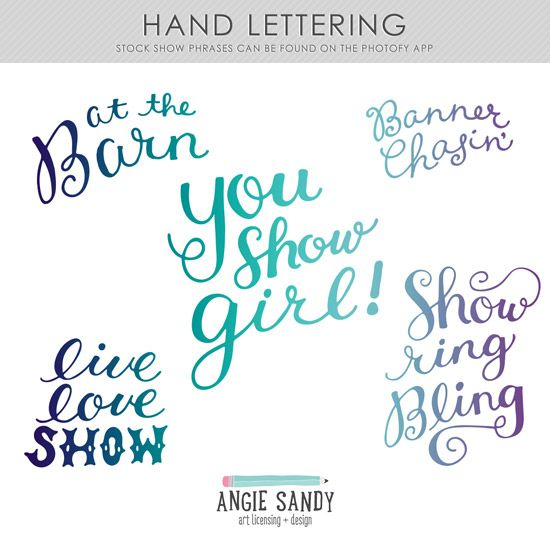 Portfolio Project | Stock Show Hand Lettered Phrases