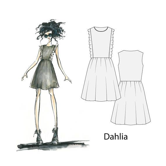 Dahlia dress, sizes 8-16, sewing pattern, sewing patterns for women, dress patterns, pdf sewing pattern, sewing patterns, womens pattern