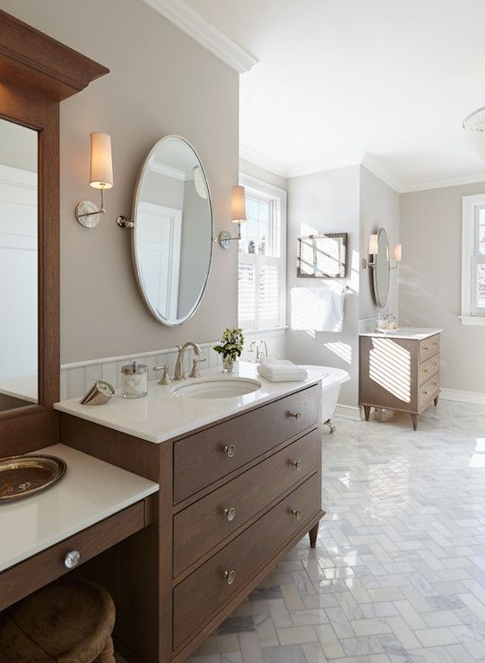 1000 Ideas About Oval Bathroom Mirror On Pinterest Half Bath Remodel Powder Rooms And