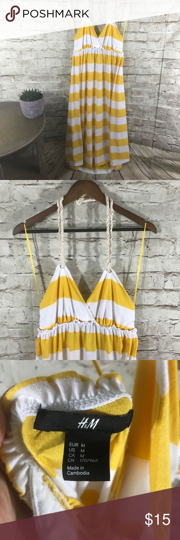 H&M light summer beach dress Nice and roomie summer beach dress , can be a great maternity dress as well. Open back and tight up at the back of the neck. Ankle length. Size M H&M Dresses Maxi
