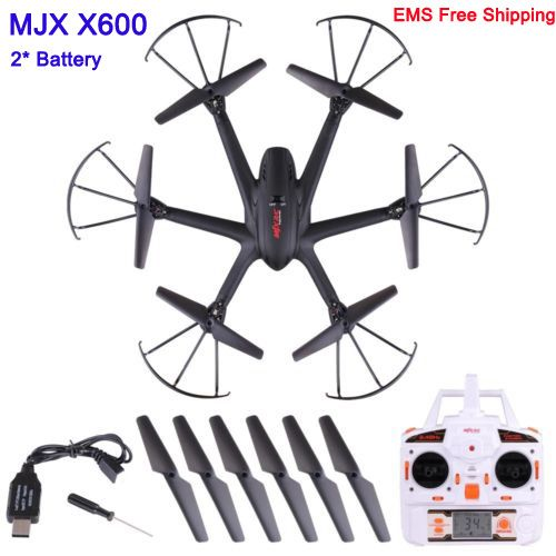 With two Battery MJX X600 UAV Kvadrokopter 2.4G 4CH 6-Axis Drones with Camera HD C4005 WIFI C4010 C4008 Drone RC Helicopters //Price: $US $90.60 & FREE Shipping //     #rchelicopters