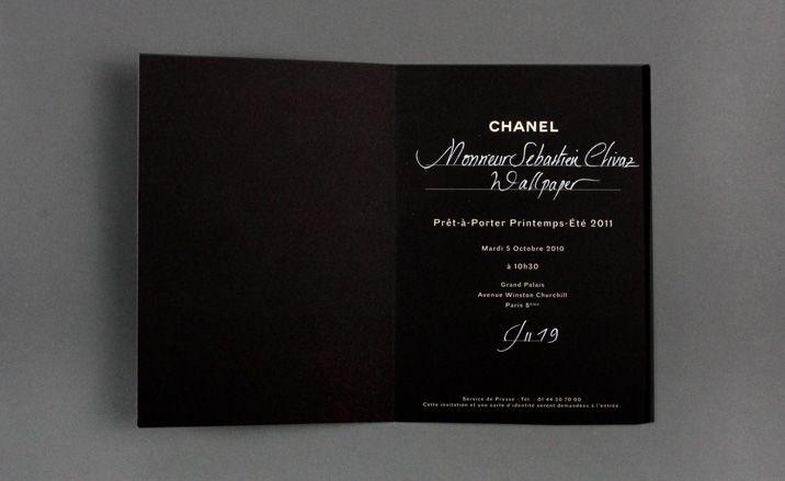 CHANEL invite