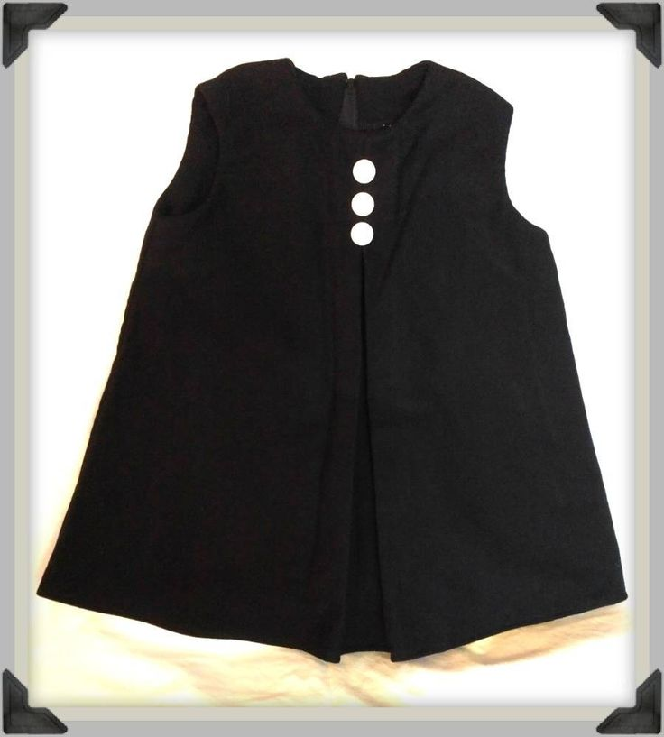 Little Black Dress for the Chic Toddler, wool dress, retro style dress, winter dress by ByCatDesign on Etsy