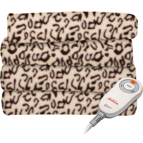 Sunbeam Fleece Electric Throw-even though already have an electric blanket,this one is fleece and cheetah!!