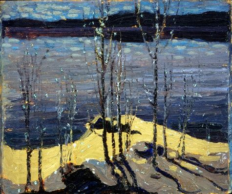 "Tom Thomson ""Moonlight and Birches"", 1917 (Canada, Post-Impressionism / Group of Seven, 20th cent.)"