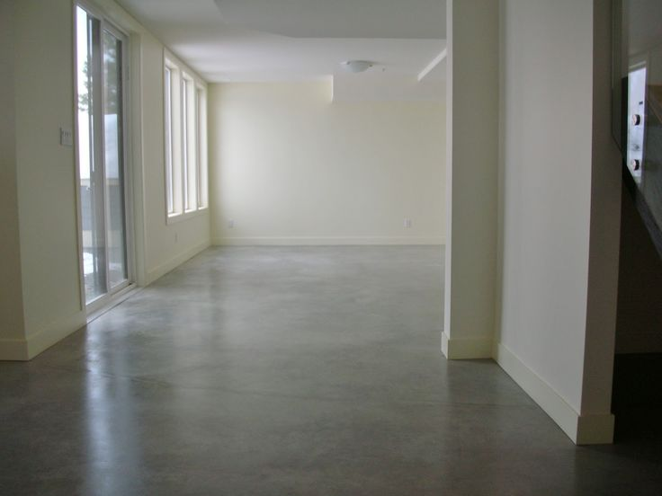 MODE CONCRETE: Basement Concrete Floors Naturally Look Amazing And Modern    Simple Process With Concrete