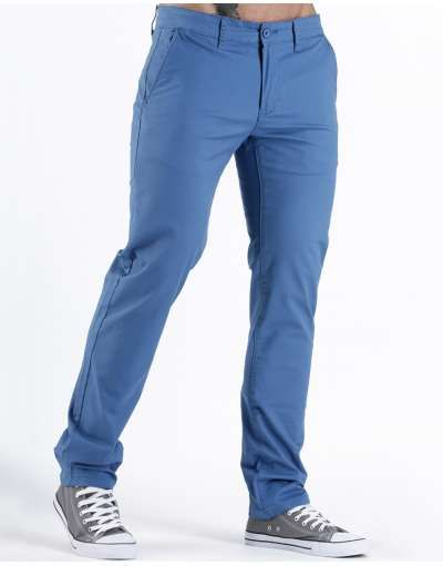 ΝEEΣ ΑΦΙΞΕΙΣ :: Παντελόνι Chino Fit & Slim Light Blue - OEM