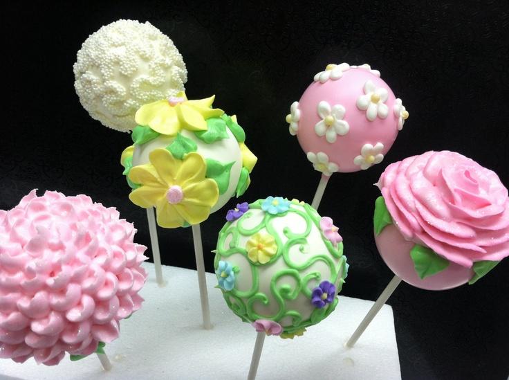 Flower Cake Balls : 139 best Mother s Day - Cake Pops/Balls images on Pinterest