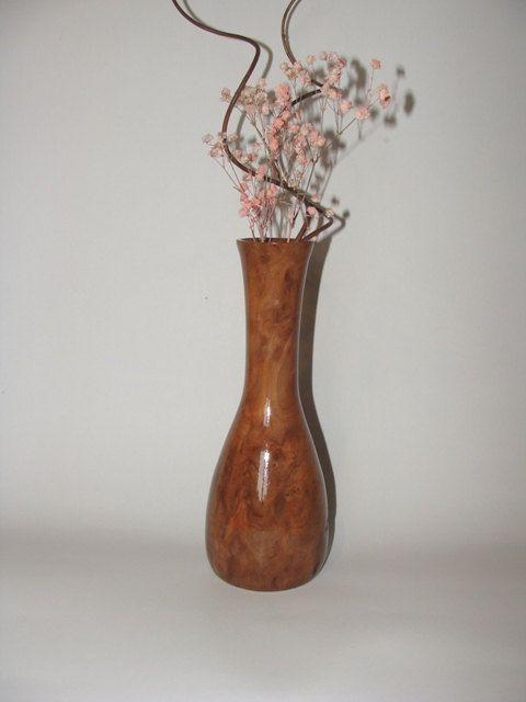 PEAR HALF LIFE  Wooden Vase Wooden Pear Vase Wooden by NOviWood, $18.00