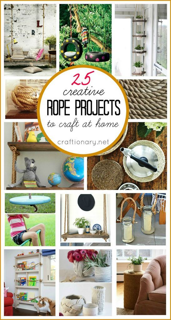 Who wold have thought that a simple rope can be so crafty! Make DIY rope projects to bring nautical and modern feel to home with baskets, macrame planters..