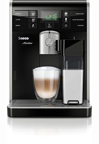 Saeco HD8769/01 Machine à Espresso Automatique Moltio Carafe à Lait Brevetée Automatique, bac à grain amovible exclusif et mémorisation du…