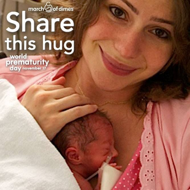 Today is #WorldPrematurityDay! Share this hug and let everyone know that you care about premature birth.