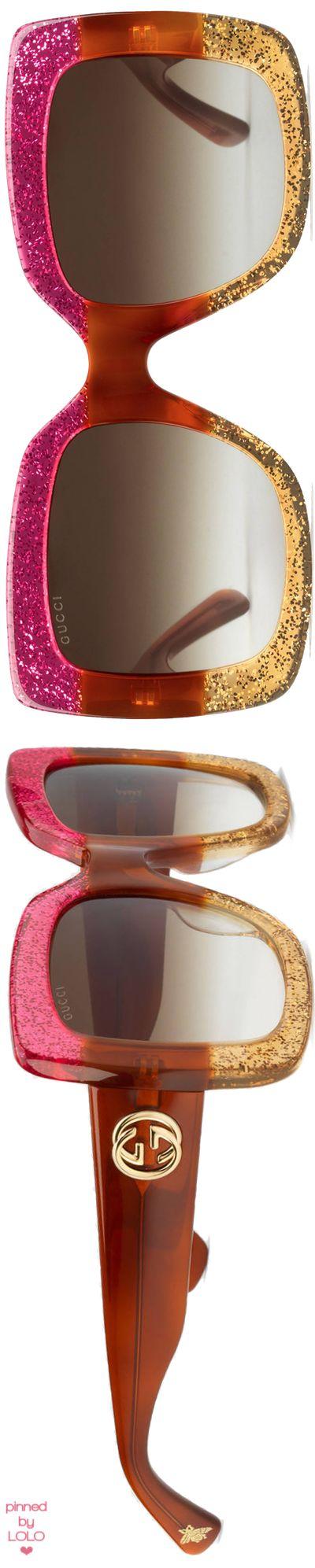 #gucci Square Frame Acetate Sunglasses