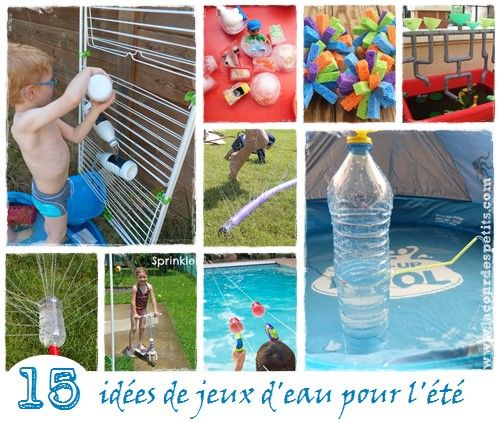 Quoi de mieux que les jeux d'eau en plein été ?! Découvrez de chouettes idées pour fabriquer facilement murs d'eau et autres jeux pour…