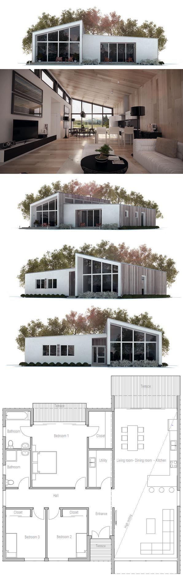 Les 25 meilleures idées de la catégorie plans de maison de bungalows modernes sur pinterest bungalow moderne plans de petites maisons et petits