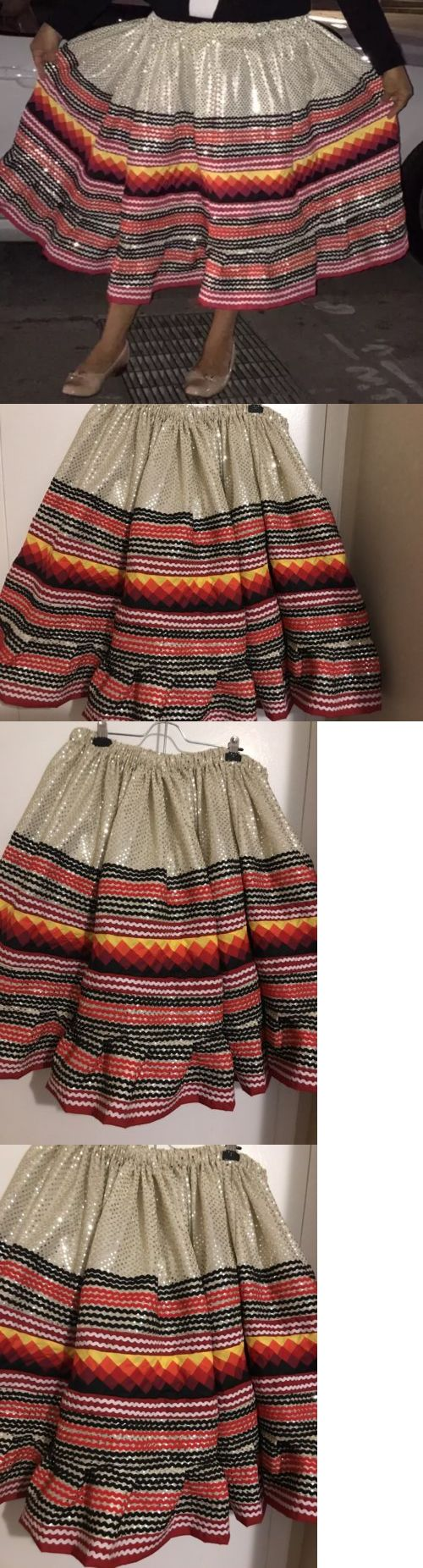 Native American 163146: Seminole Patchwork Skirt 3 Yards Of Patchwork With Gold Sequins Fabric! New?? -> BUY IT NOW ONLY: $399.99 on eBay!