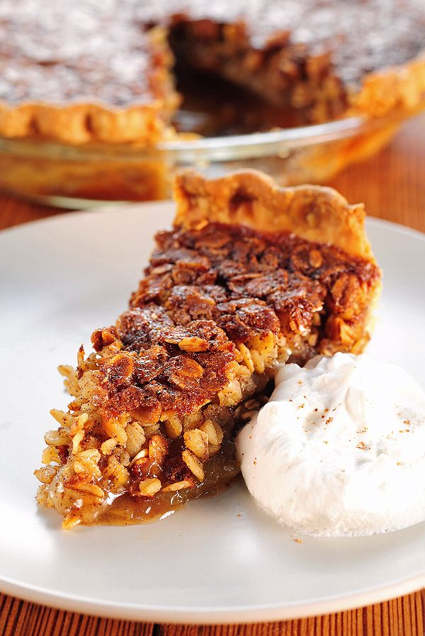Oatmeal Pie recipe (perfect for holiday parties when you know there will be lots of pumpkin & pecan already)