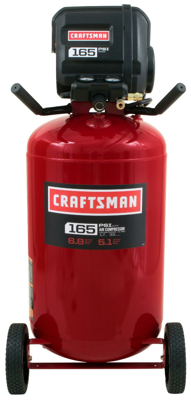Craftsman 33 gallon vertical air compressor portability from sears 299 00 online price